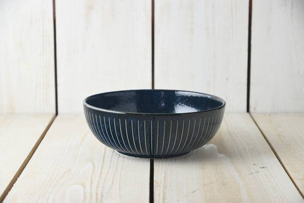 Indigo Tokusa Serving Bowl