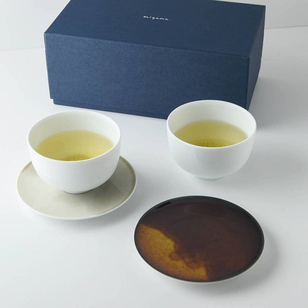 Miyama Tea Cups with Saucers Set