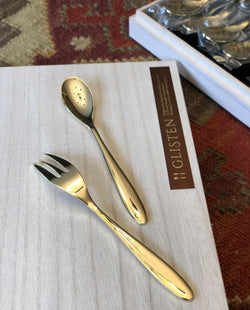 Golden Time Dessert Spoons & Forks 10-Piece Set
