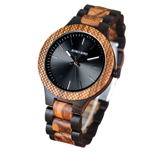 Masculino Men's Luxury Quartz Wooden Wristwatch