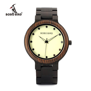 Open image in slideshow, Luminous Hands Dial Wooden Band Quartz Men's Watch