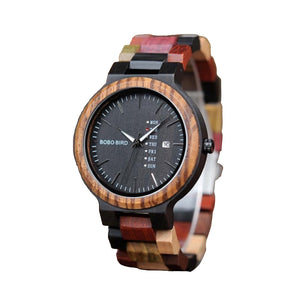 Mens Designer Wooden Quartz Watch