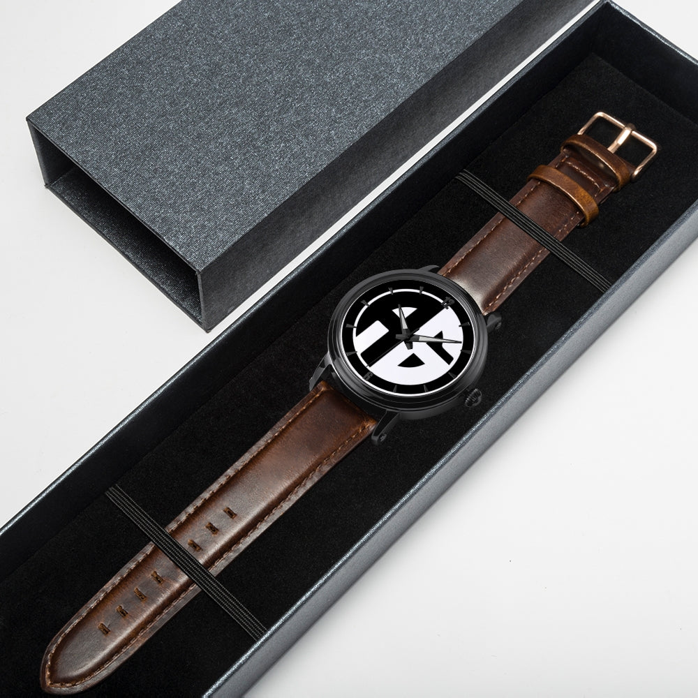 AG Conscious Classic Watch Brown Strap Gift Box