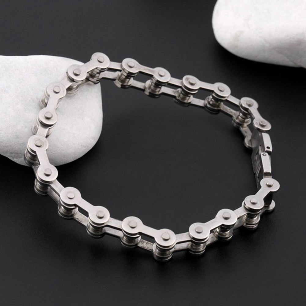 Titanium Bicycle Chain Bracelet
