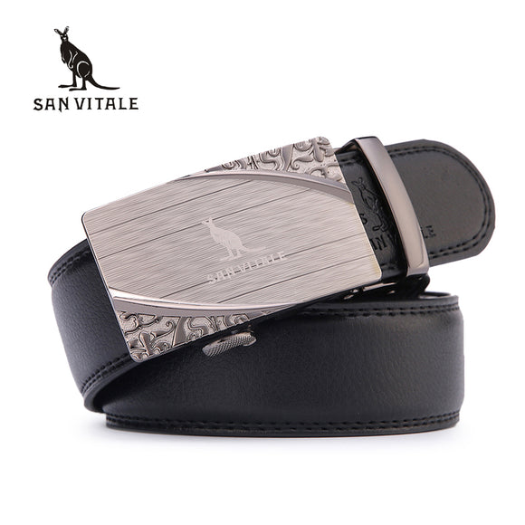 Split Leather Belt (Automatic Buckle)