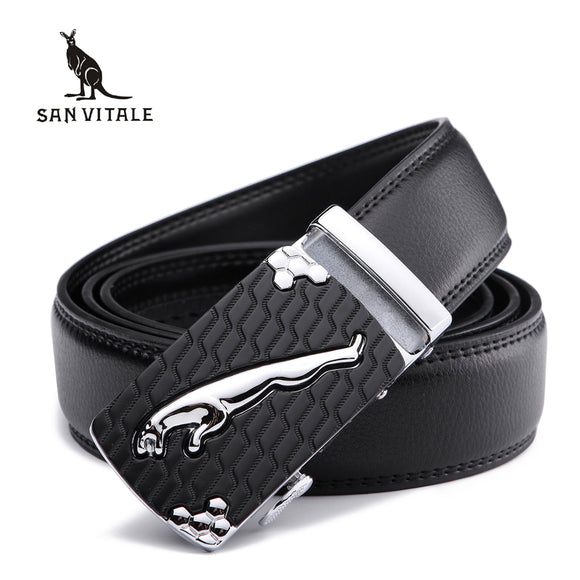Men's Genuine Leather Belt (Automatic Buckle)