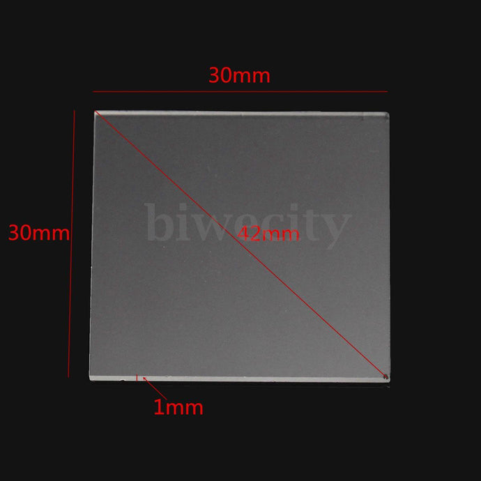 Double Side Polished Far-UV Fused Silica Quartz Glass Sheets Plate 30*30*1mm