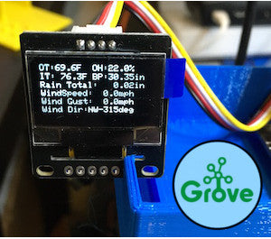 Grove 128x64 I2C OLED Board for Arduino and Raspberry Pi