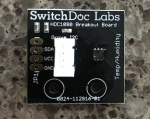 Grove HDC1080 I2C Temperature and Humidity Board (HDC1000 compatible)