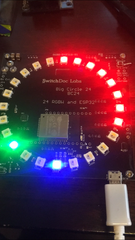 The BC24 - ESP32 based 24 RGBW Pixels with Grove Connectors