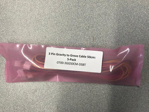 3 Pin Gravity to Grove Cable 50cm:  5-Pack