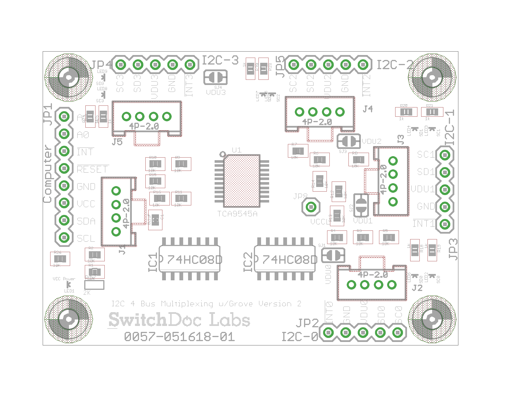 I2C 4 Channel Mux Extender / Expander Board Grove/Pin