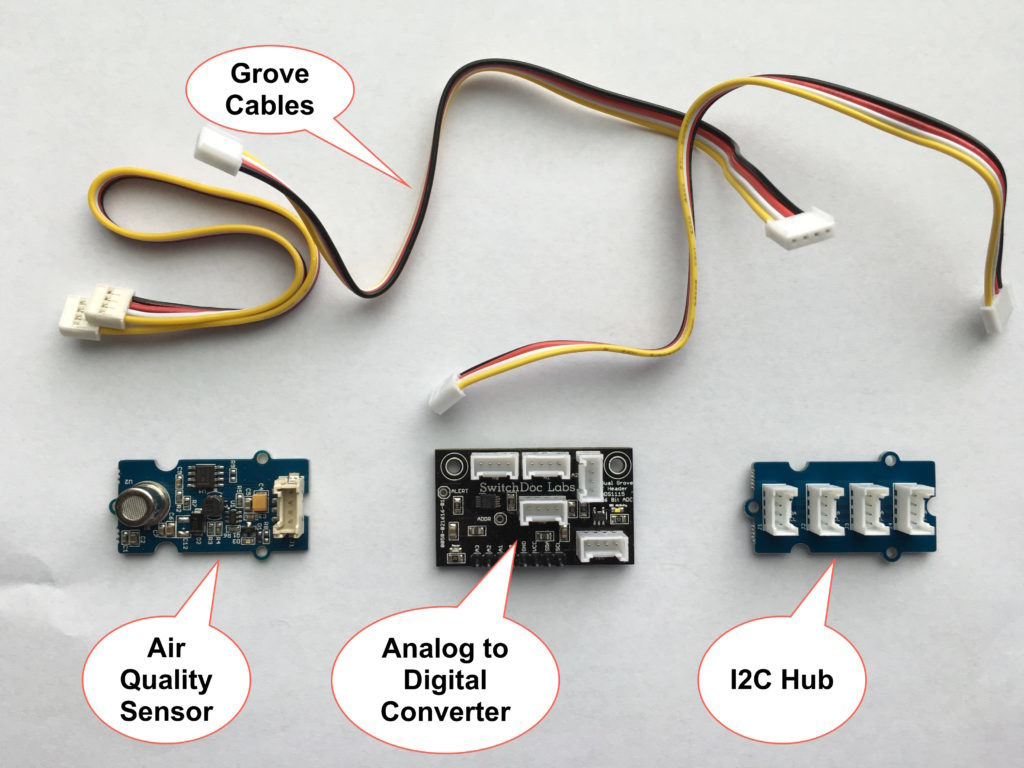 Air Quality Extender Pack for OurWeather / Raspberry Pi / Arduino / ESP8266 - Grove Headers