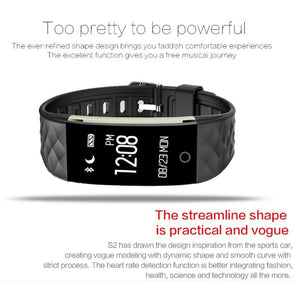 Bluetooth Smart Band Heart Rate Bracelet for Android IOS Phone