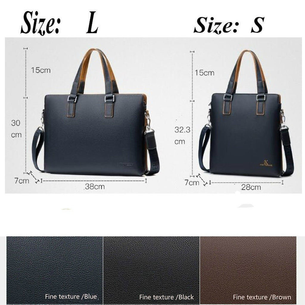 Business Shoulder Leather Messenger Bags Computer Laptop Handbag Men Casual Briefcase