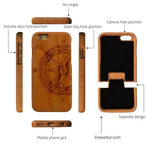 Wooden Phone Case for iPhone And Samsung.