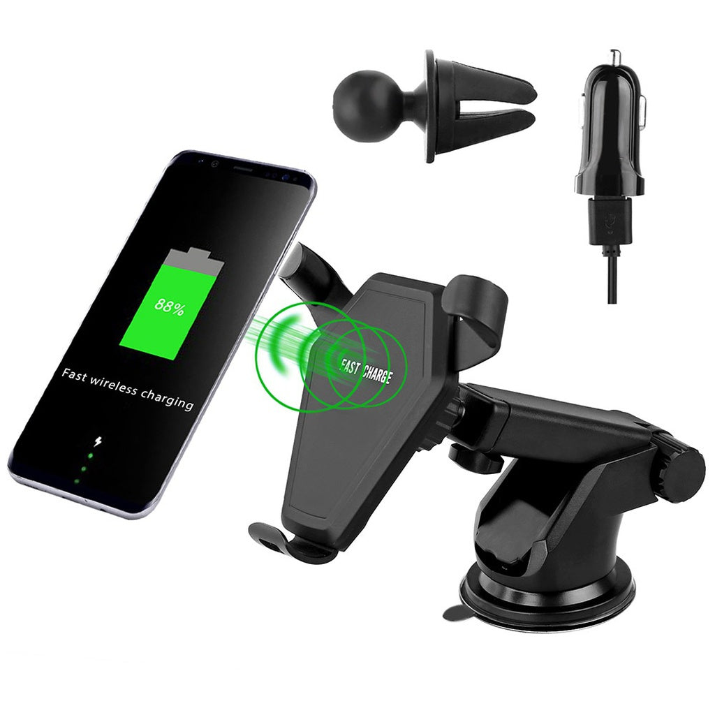 DCAE 10W Fast Charge Qi Wireless Charger Phone Car Charger Stand for IPhone X/8/8plus/Samsung Galaxy S8/S7/S6/edge Note 8/5
