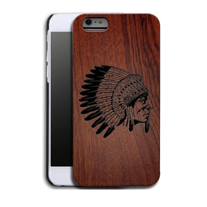 iPhone 5S wood case Indian chief African ebony