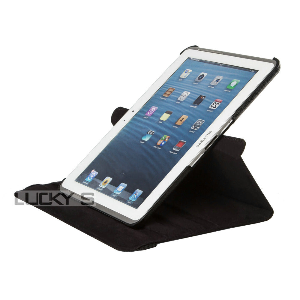 "Samsung Galaxy tablet 2, 10.1"" black leather case."