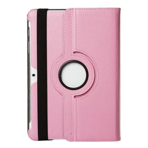 "Samsung Galaxy tablet 2, 10.1"" pink leather case."