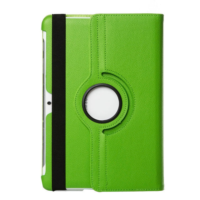 "Samsung Galaxy tablet 2,10.1"" green leather case."