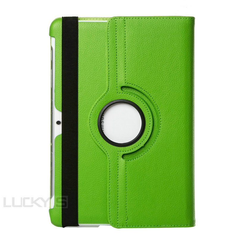 "Samsung Galaxy tablet 2 case 10.1"" green leather case."
