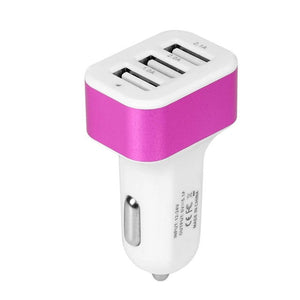 USB Car Charger Universal 3 Port Phone Adapter Socket 2A 2.1A 1A