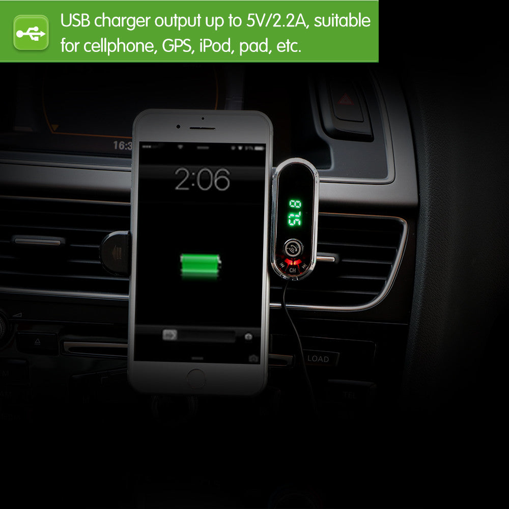 Car  Phone Holder And USB Charger MP3 Player