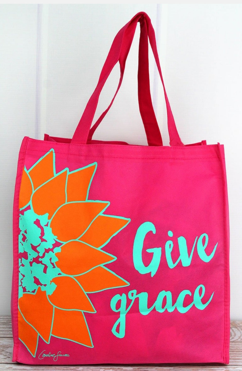 GIVE GRACE HOT PINK NEON FLOWER BAG
