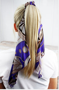 FABULOUS FEATHERS SATIN PONYTAIL SCARF