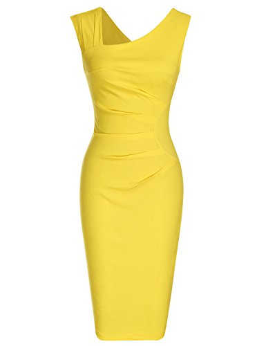 Women's Retro 1950s Style Sleeveless Slim Business Pencil Dress