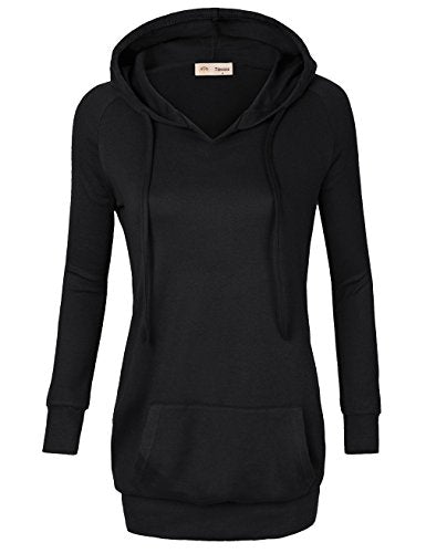 Timeson Womens Long Sleeve Knitted Panel Hooded Casual Sweatshirt