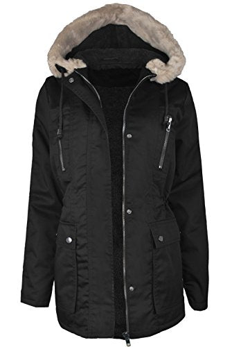 Women's Versatile Militray Anorak Parka Hoodie jackets with Drawstring
