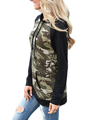 Women's Camouflage Print Pullover Hooded Sweatshirt