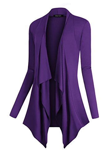 Women's Drape Front Open Cardigan Long Sleeve Irregular Hem