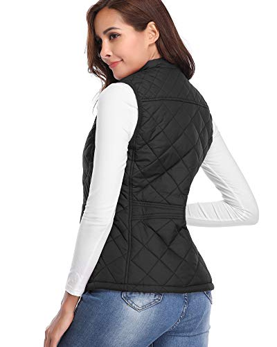 Women's Stand Lightweight Padded Zip Vest Quilted