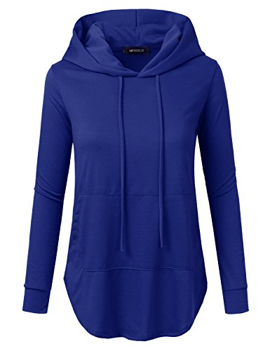 Loose Fit Pullover Hoodie With Kangaroo Pocket For Womens With Plus Size