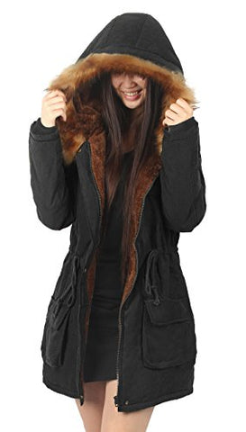 iLoveSIA Womens Hooded Warm Coats Parkas with Faux Fur Jackets