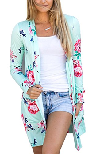 Womens Boho Irregular Long Sleeve Wrap Kimono Cardigans Casual Coverup Coat Tops Outwear S-3XL