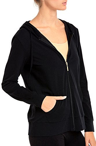 Women's Thin Cotton Zip Up Hoodie Jacket
