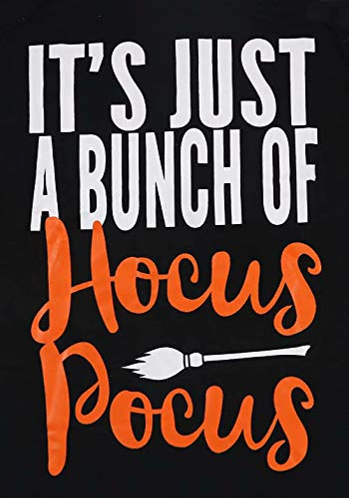 It's Just A Bunch of Hocus Pocus Funny Halloween T Shirt Women 3/4 Sleeve Raglan Baseball Fall Graphic Tee Tops