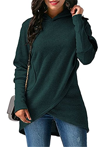 Womens Long Sleeves With Pocket Coat Jacket Hooded Sweatshirt Wrapped Hoodies