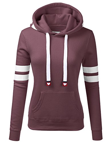 Womens Long Sleeve Fleece Pullover Hoodie Sweatshirts