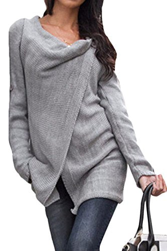 Women's Tassel Hem Crew Neck Knitted Sweater Coat Outwear