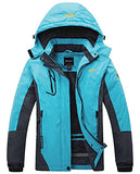 Women's Mountain Waterproof Fleece Ski Jacket Windproof Rain Jacket