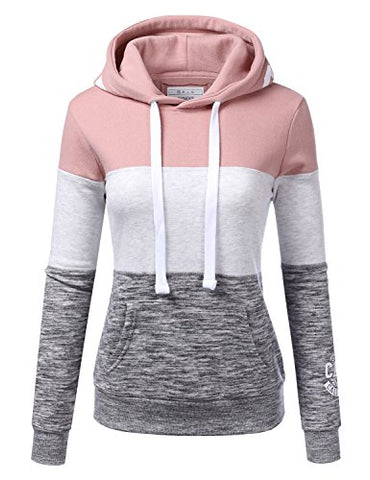 NINEXIS Womens Long Sleeve Fleece Pullover Hoodie Sweatshirts