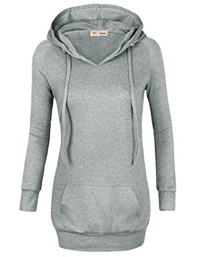 Womens Long Sleeve Knitted Panel Hooded Casual Sweatshirt