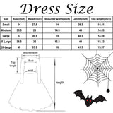 Halloween Dresses Womens Long Sleeve Cocktail Swing Dress Skeleton Pumpkin Printed Cosplay Party Costume