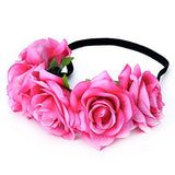 DreamLily Rose Flower Crown Wedding Festival Headband Hair Garland Wedding Headpiece