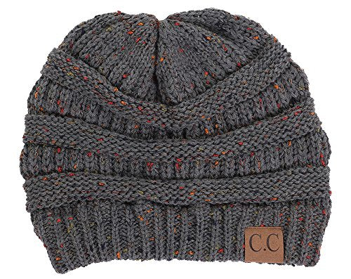 FUNKY JUNQUE's CC Confetti Knit Beanie - Thick Soft Warm Winter Hat - Unisex
